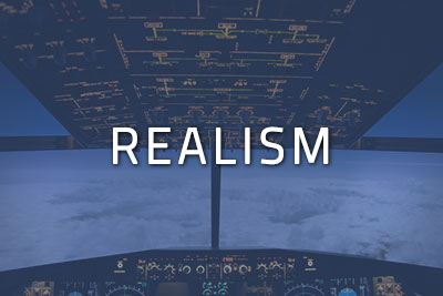 "Photo of a cockpit with ""Realism"" written over it"