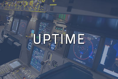"Photo of a cockpit with ""Uptime"" written over it"