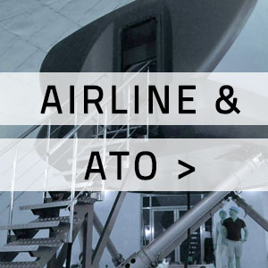"Flight simulator with ""Airline & ATO"" written over it"