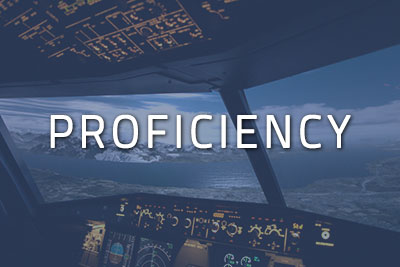 "Photo of a cockpit with ""Proficiency"" written over it"