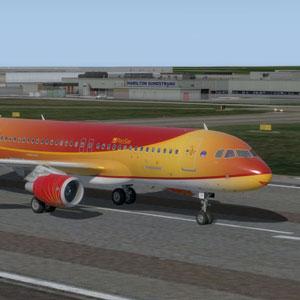 ProSimA320 on runway