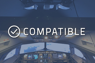 """Photo of a cockpit with """"Compatible"""" written over it"""